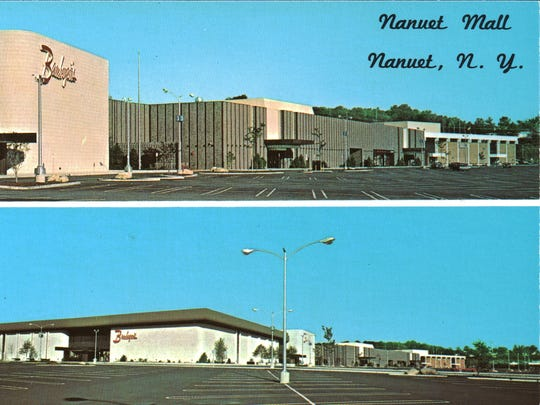 Vintage postcard of the Nanuet Mall.