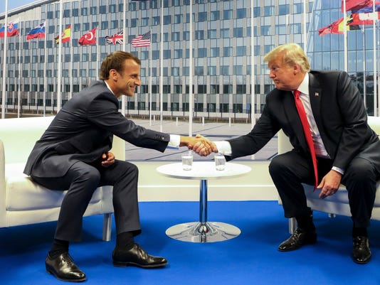 AP BELGIUM FRANCE US NATO SUMMIT I POOL BEL