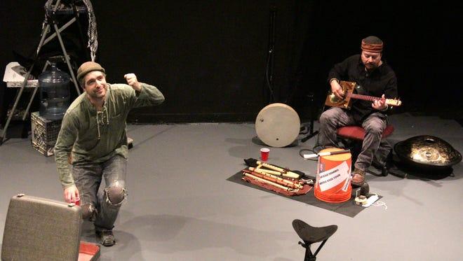 "Algernon D'Ammassa, left, and Randy Granger perform ""Killing Buddha"" in Las Cruces in February. ."