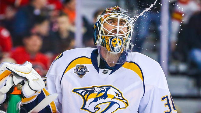 Predators goaltender Carter Hutton is set to become an unrestricted free agent.
