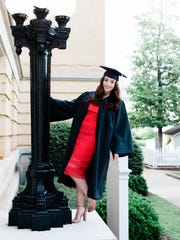 Allison Drew at graduation day, at the University of