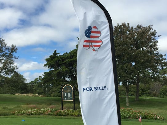 A banner at Greate Bay Country Club in Somers Point