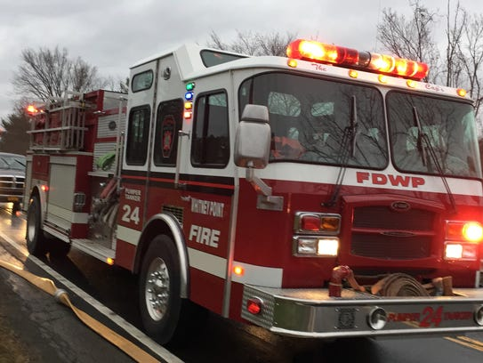 Whitney Point firefighters battled a blaze early Tuesday,