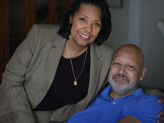 Charles Gray and his wife Cassandra at home in Detroit