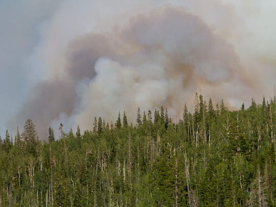 The Brian Head fire continued to burn outside of the town of Brian Head on Tuesday, June 27, 2017.