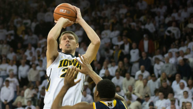 Iowa senior Jarrod Uthoff is the Big Ten's top scorer (18.6 points per game) and shot blocker (2.9) leading into Wednesday's 6 p.m. game against Penn State.