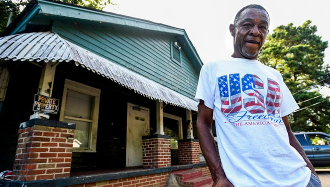 Richard Pernell at his home in Montgomery, Ala. on Thursday July 5, 2018. Pernell, who is disabled, is getting help fixing up his home from Matthew Church of God.