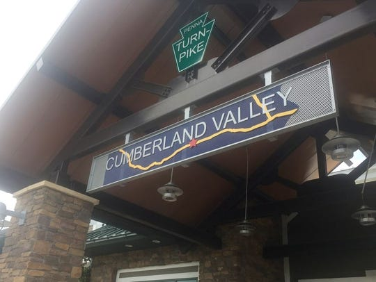The Cumberland Valley rest stop is located on the eastbound
