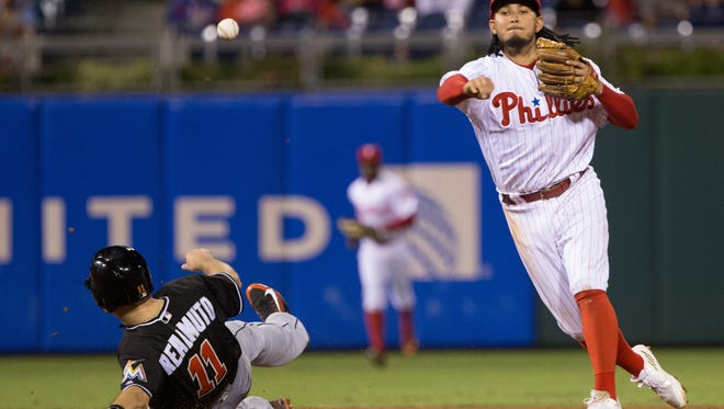 Philadelphia Phillies shortstop Freddy Galvis was announced as a finalist for the National League Gold Glove Award at the position. Teammate Odubel Herrera is also a finalist in center field.