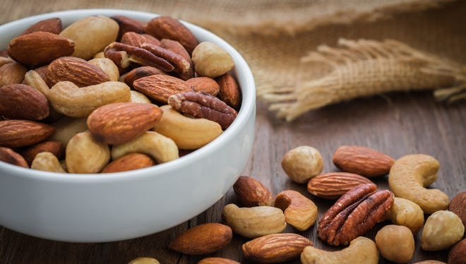 Nuts | They're rich in heart-protective unsaturated fat and provide an excellent source of (non-meat) protein.