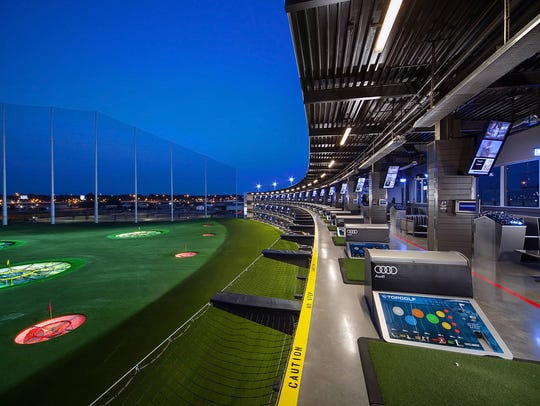 Topgolf's location in Nashville