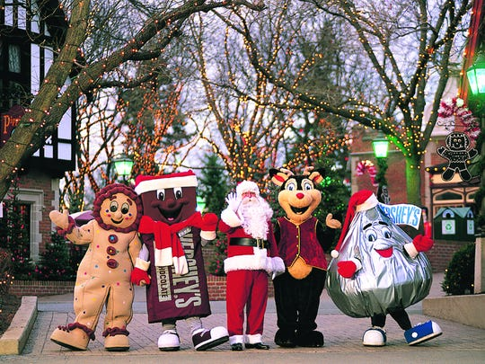 Christmas Candylane, Dec. 21 | Hershey: The magic of the holidays comes to life through more than 4 million twinkling lights, rides for the family, festive decorations and a variety of Hershey's characters Nov. 11 through Dec. 31 at Hersheypark, 100 W. Hersheypark Dr. Tickets start at $18 for all ages; free for children 2 and younger. For details and hours, visit hersheypark.com.
