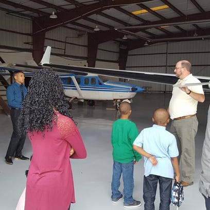 LEAP youth attend Aviation Career Day
