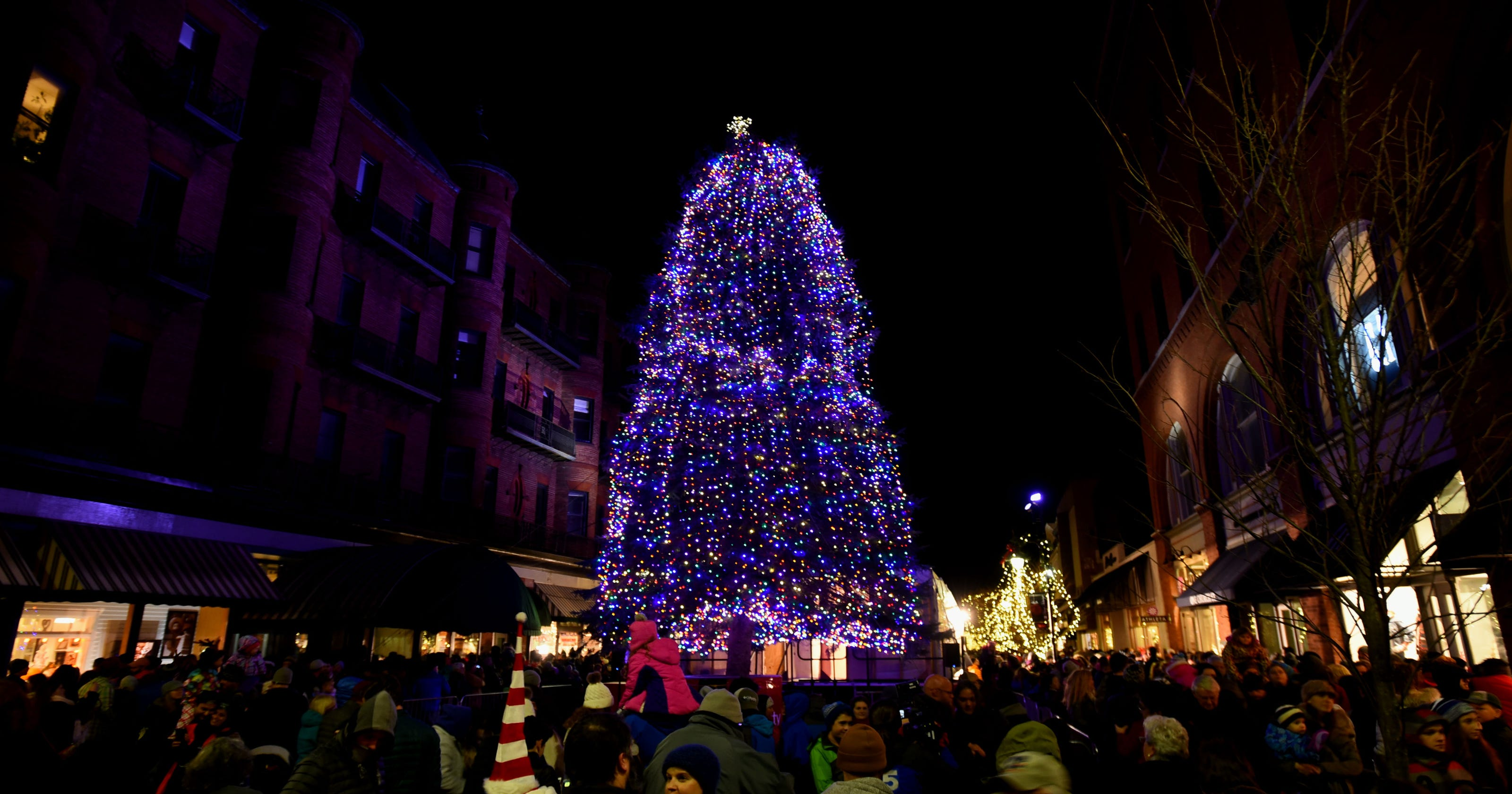 Let There Be Light Burlington Christmas Tree Glows