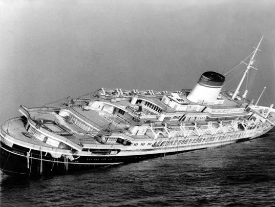 Watchf Associated Press Domestic News   At Sea APHS119 ANDREA DORIA CAPSIZING