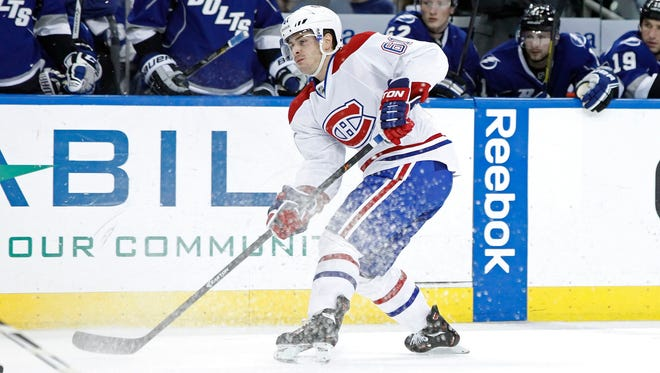 Montreal Canadiens defenseman Raphael Diaz is known for his puck-moving skill.