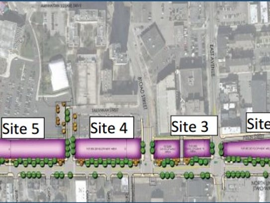 The city divided the eastern Inner Loop into five parcels