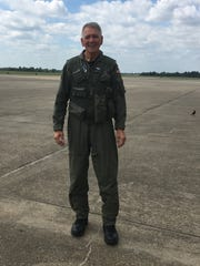 Congressman Ralph Abraham, R-Alto, as he prepared to board a plane in 2017 at the Lake Charles Regional Airport to pilot search and rescue missions for the U.S. Air Force following Hurricane Harvey.