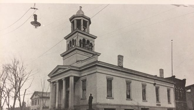 Ithaca's City Hall is pictured here ca. 1900. Its demolition in 1966 spurred community members to form Historic Ithaca to help preserve significant local buildings.