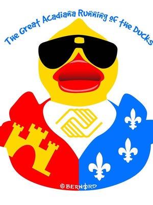2017 Great Acadiana Running of the Ducks logo.
