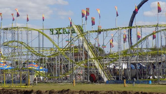 The Galaxy Coaster was part of the 2018 Wilson County Fair.
