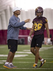 Head football coach Herm Edwards of the Arizona State