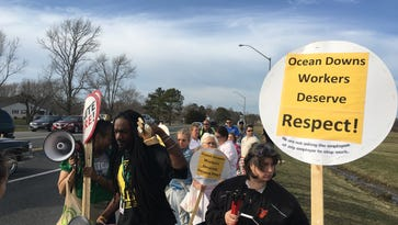 WATCH: People protest at Ocean Downs Casino on March 10, 2016