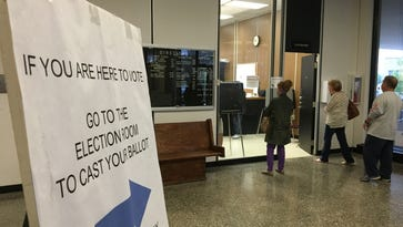 Early voting in the Delaware County Building on Monday, before the noon deadline. Early voting did not top 2008 numbers.