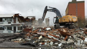 Stardust Lodge is the latest motel demolished for downtown Reno's new 'Fountain District'
