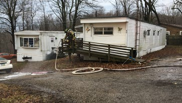 Woman pronounced dead after Madison Township trailer fire