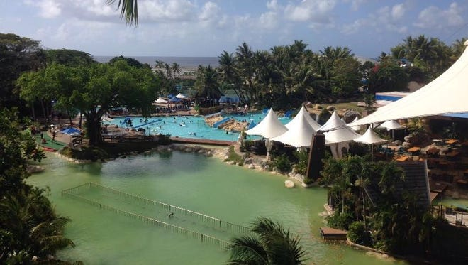 The pool area at the Pacific Islands Club hotel in Tumon.