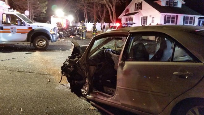 A crash prompted Neptune Township authorities to close Route 33.