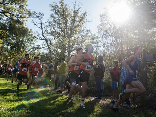 Runners compete in the YAIAA Cross Country Championships