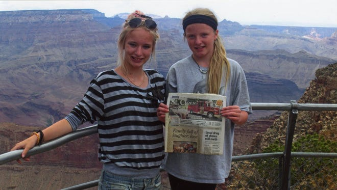 Maisie and Kelsie Claseman of Rice spent part of their summer on adventure through the western United States