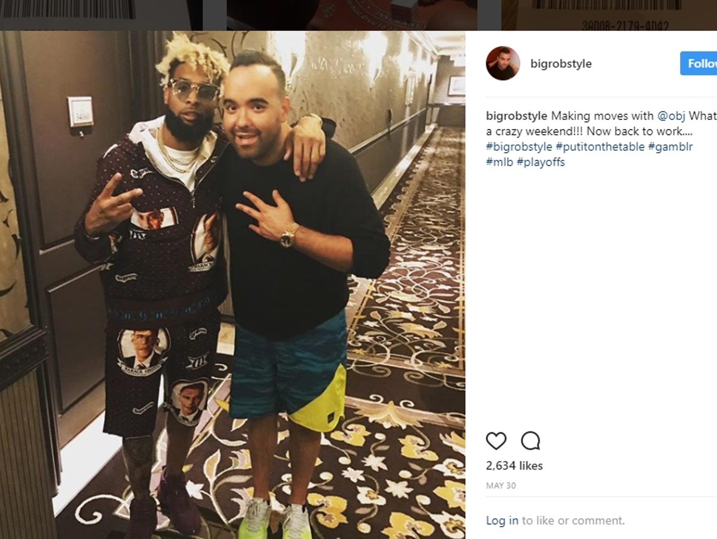 Rob Gorodetsky, right, has a photo on his Instagram