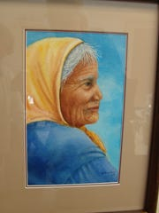 Versch's painting of a Navajo woman that took a second