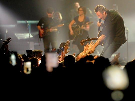 Blake Shelton performs at Bridgestone Arena   Friday