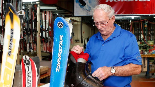 Bob Stevenson owner of Sitzmark Ski Shop in Pearl River, is closing the business later this year after being at this location for 48 years. Wednesday, July 13, 2016.