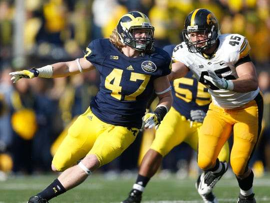At Michigan, Jake Ryan played both inside and outside linebacker.