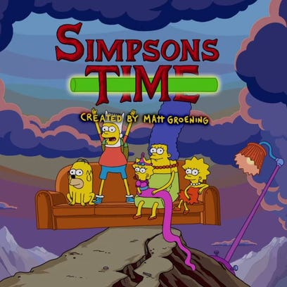 Couch gag: 'The Simpsons' meet 'Adventure Time'