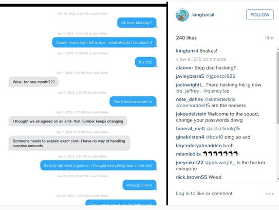 The second of two Instagram messages posted to Laremy