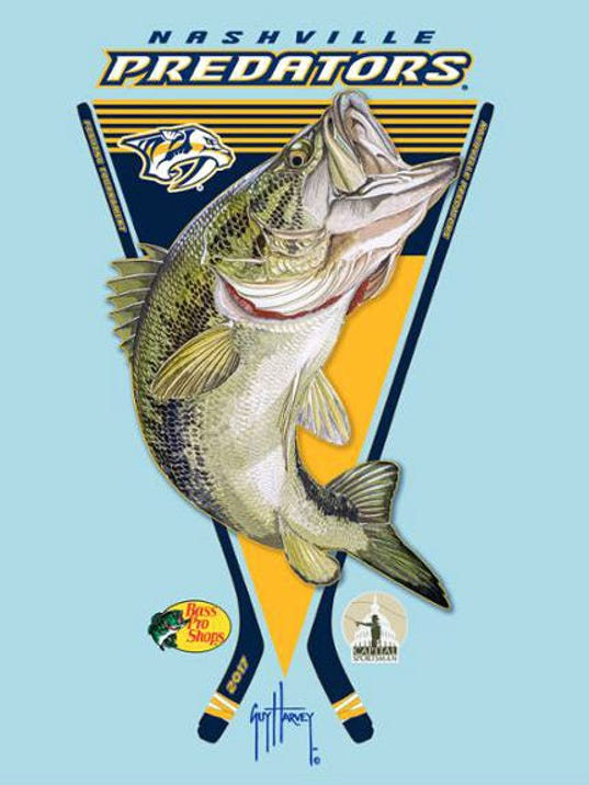 Nashville Predators Sponsoring Fishing Tournament Old