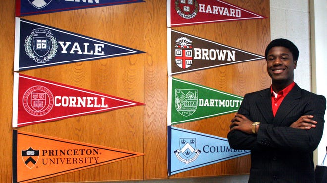 Kwasi Enin of Shirley, N.Y., was accepted by all eight Ivy League colleges and chose Yale University as the college he will attend this fall.
