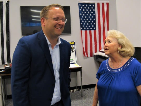 Justin Biggs was all smiles after his hard-fought primary