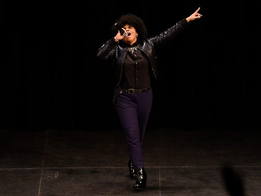 Wé McDonald sang about a half-dozen songs Wednesday at William Paterson University in Wayne.