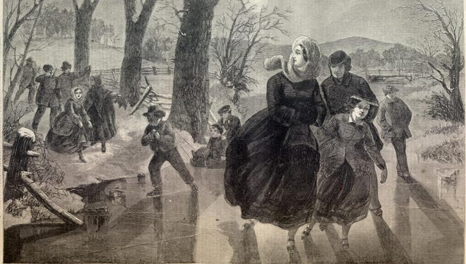 One of the few joys of 19th-century winters in Richmond was being able to skate on frozen ponds.