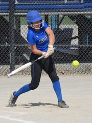 KCC sophomore Jessica Roan, from Pennfield, takes a swing during action earlier this season.