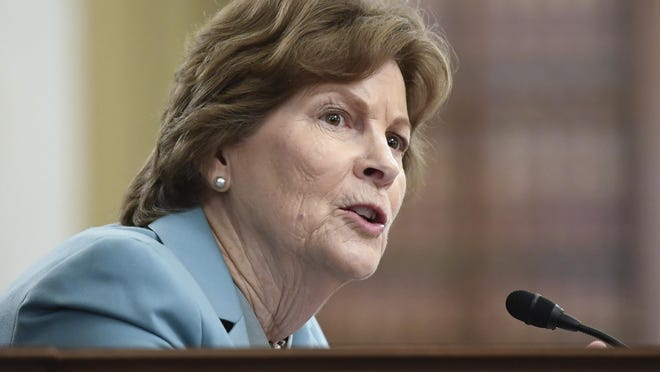 Sen. Jeanne Shaheen, D-N.H., seen speaking on Capitol Hill in Washington earlier this month, is pushing for answers on a possible increased risk from COVID-19, the disease caused by the new coronavirus, for people who have been exposed to PFAS contaminants.