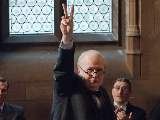 "Gary Oldman as Winston Churchill in ""Darkest Hour."""
