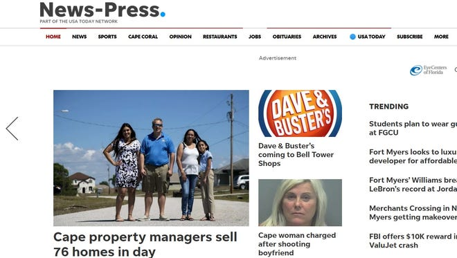 A look at the newly-redesigned news-press.com